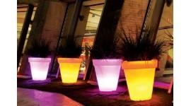 Pot de fleurs lumineux - LED Multicolore - Rond